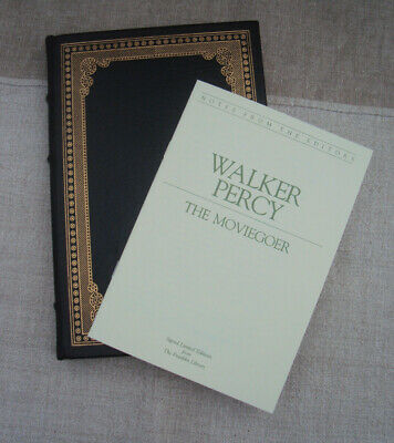 Signed 60 Franklin Library The Moviegoer Walker Percy 1980 Leather Bound