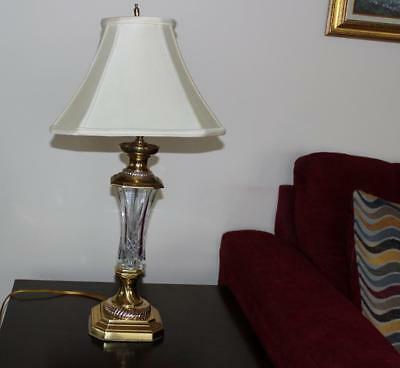 """Waterford Crystal 29.5"""" Florence Court Table Lamp with Shade"""