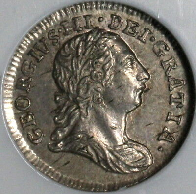 1784 NGC AU 58 George III 2 Pence Great Britain Silver Coin POP 4/2 (18062801C)