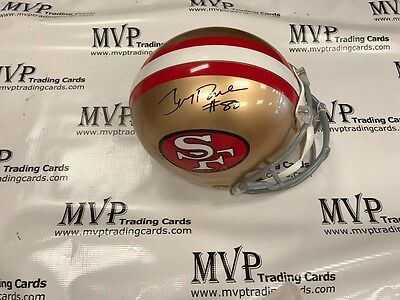 4ef0b4ad5 JERRY RICE Authentic Autograph Riddell Full Size Official S.F. 49ers Helmet  JSA