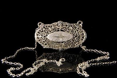 Old Edwardian Sterling Filigree Necklaceh A49324