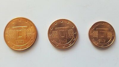 Série pièce euro Malte 2008 5 2 1 cent centimes euros kit starter collection