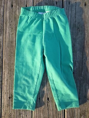 Hanna Andersson ~ Girls Green Leggings ~ Size 100 or 3-5