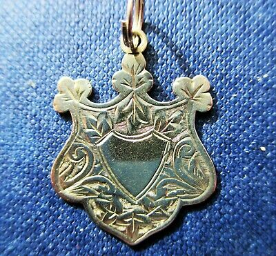 Lovely  Little Antique  Sterling Silver  Watch fob / pendant  Chester.1914