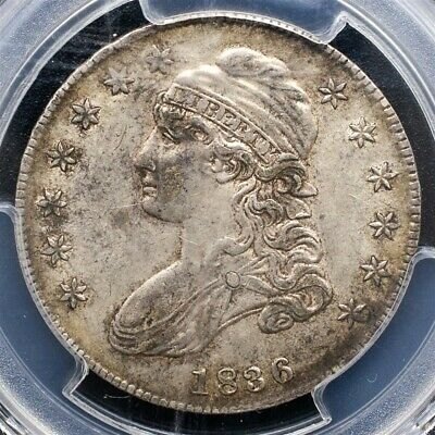 1836 Capped Bust Half Dollar Overton O-114 - PCGS AU50 - Lettered Edge