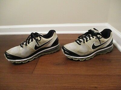 hot sale online f92d0 0db88 Used Worn Size 13 Nike Air Max 2010 Shoes White Black Silver