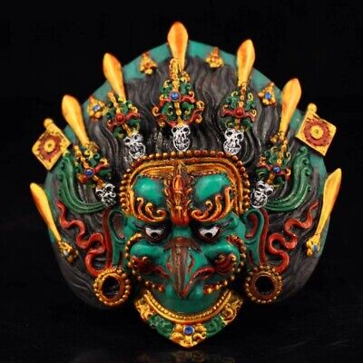 Tibetan Buddhist Temple Collection Hand Painted eagle mask Home decoration