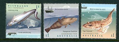2019 Sustainable Fish - MUH Set of 3 Stamps