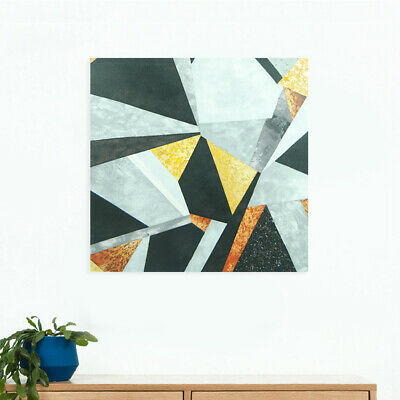 Abstract Hand Painted Art Canvas Oil Painting Modern Home Decor Framed - Rhombus