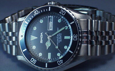 Super Cool Nos Vintage Diver - All Original And Mint - The Best You Will See!!!