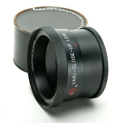 HCE Vari-Close-Up Auxiliary Lens With 54,5mm Thread. Made In Japan.