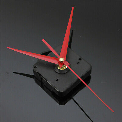 Silent Quartz Wall Clock Movement Mechanism DIY Replacement Parts Black + Hands