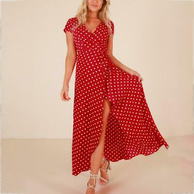4799c4d41b7f0 LILY ROSIE GIRL Red Floral Print Sexy Lace Up V Neck Women Maxi ...