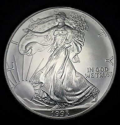 1993 Silver American Eagle BU Coin 1 oz US $1 Dollar Uncirculated U.S. Mint *93