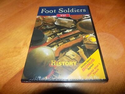 FOOT SOLDIERS WWI + World War I One Tech Soldiers Guns History Channel DVD NEW