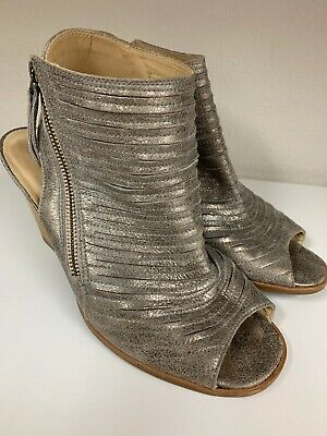 f4d467a62a A13 Paul Green Cayanne Gold Leather Peep Toe Sandal Womens Size 7 UK   9.5  US