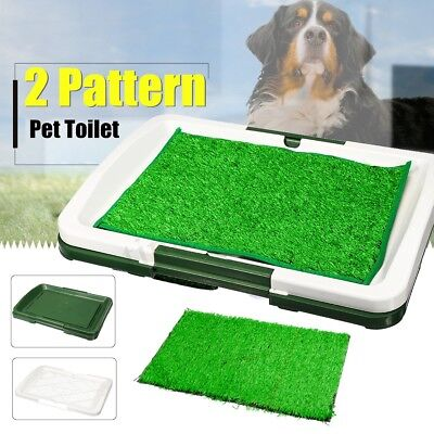 Puppy Pet Dog Toilet Mat Indoor Restroom Training Grass Potty Pad Pee Loo Tray