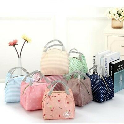 Childrens Kids Cute Lunch Bags Insulated Cool Bag Picnic Bags School Lunchbox
