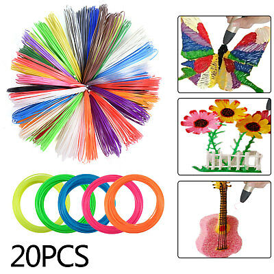 20 Colors 1.75mm ABS Printing Filament Modeling For 3D Printer Pen Drawing 200m