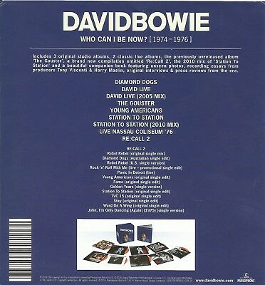 Who Can I Be Now? (1974-1976) [Box] * by David Bowie (12 Discs, 2016) GOLD CD's