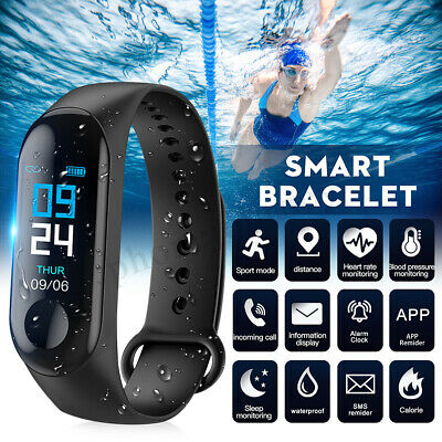 Smart Bracelet Watch Wristband Heart Rate Monitor Blood Pressure Fitness Tracker