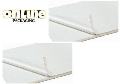 100 SHEETS OF WHITE COLOURED ACID FREE WRAPPING TISSUE PAPER 450x700mm 19GSM