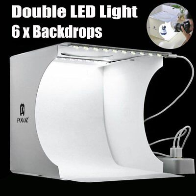 LED Light Room Photo Studio Photography Lighting Tent Backdrop Cube Mini Box KK