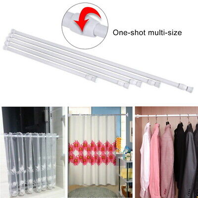 Telescopic Net Voile Tension Curtain Rail Pole Rod Spring Loaded Extendable UK