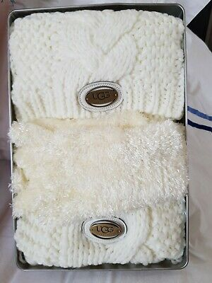 8adb2ee159b141 UGG HAT AND Scarf Set. - £20.00 | PicClick UK