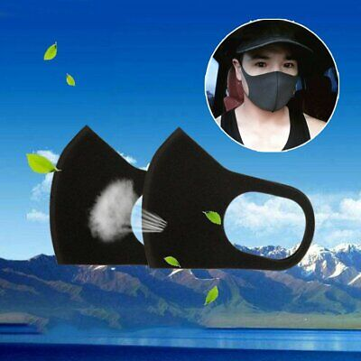 3Pcs Washable Health Outdoor Anti-Dust Mouth Face Mask Surgical Respirator TU