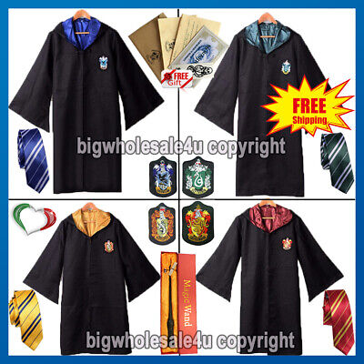 Mantello Harry Potter Cosplay Halloween Carnevale Sciarpa Cravatta Bacchetta