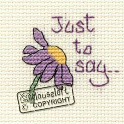 Special Occasions Cross Stitch Kit - Just to Say
