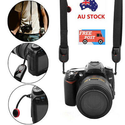 Quick Release DSLR Camera Cuff Wrist Belt Leash Shoulder Strap Sling ABS Buckle