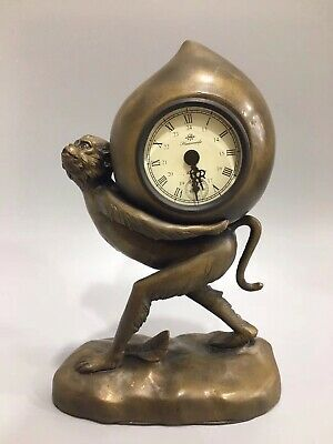 Chinese Copper monkey Mechanical clock Watch Home decoration