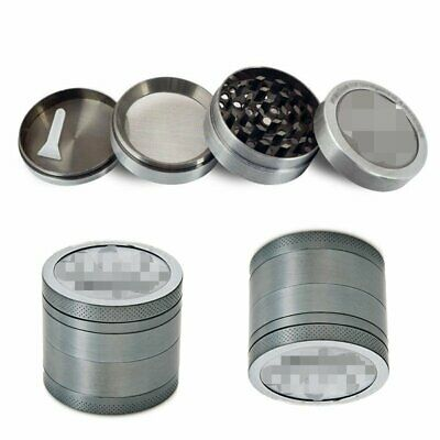 4-Layers Zinc Alloy Tobacco Herb Grinder Metal Hand Muller Smoke Crusher DS