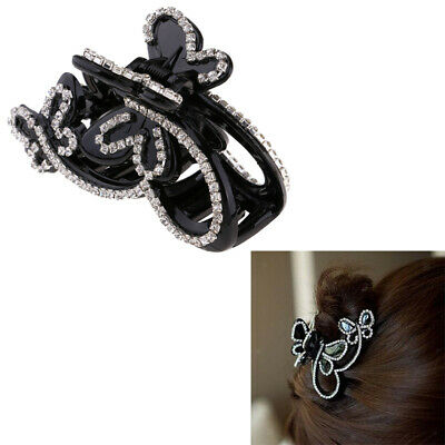 1x Women Crystal Shower Hair Claw Clips Grip Clamp Ponytail Holder Makeup Large