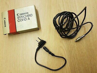 Boxed Canon Camera Synchro Cord A