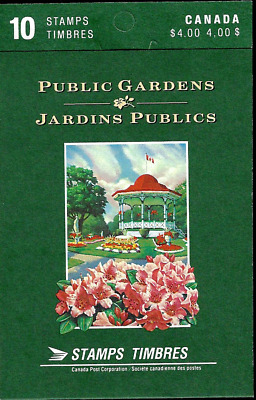 Canada Stamp Booklet - #BK130 (1991) #1315b - Public Gardens pane of 10 MNH