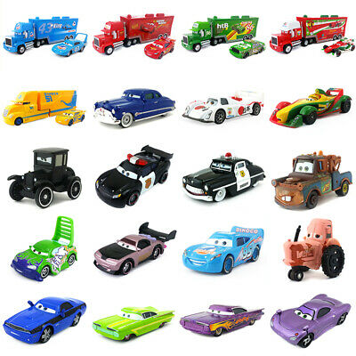 Disney Pixar Cars 2 Lightning McQueen Mack Uncle Truck King Chick Hicks Toy Car