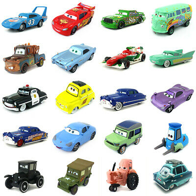 Disney Pixar Cars 2 Lightning McQueen Mater 1:55 Diecast Metal Model Car Toys
