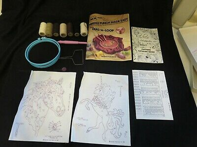 Pretty Punch Shoppettes needle punch dial a loop horse unicorn tool hoop book