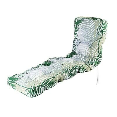 Replacement Classic Outdoor Garden Sun Lounger Chair Cushion - Choice of Prints