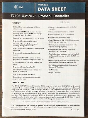 AT&T - T7102 X.25 / X.75 Protocol Controller Data Sheet (1986)