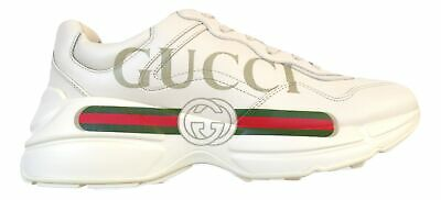 42f79379a GUCCI men's leather sneakers with oversized Rhyton sneaker with Gucci logo  50087
