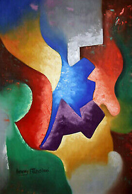 He Restores My Soul Abstract Original Painting Colorful Love Anthony R Falbo