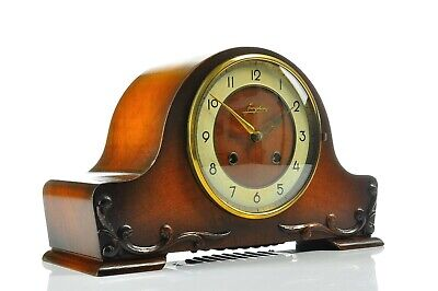 Amazing JUNGHANS 1930`German Miniature Spring Driven Mantel Clock