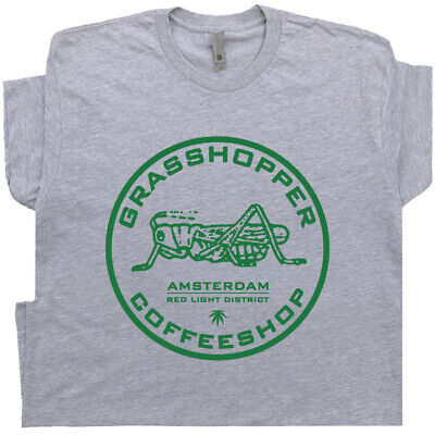 Marijuana T Shirt Amsterdam Cafe Stoner Vintage Phish Weed Beer Pub Bar Pot Leaf