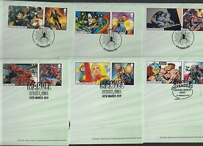 GB 2019 Marvel Generic Sheet stamp + tab FDC First Day Cover