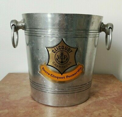 French Vintage Aluminum Veuve Clicquot Ponsardin Champagne Ice Bucket/Cooler