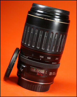 Canon EF 100-300mm F4.5-5.6 Ultrasonic Auto Focus Zoom Lens Canon With Both Caps
